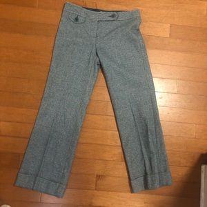 Trina Turk Light Blue Tweed Straight Leg Pants